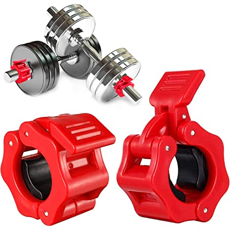 2 Paar Hantelverschlüsse Hantelstangen Verschluss Barbell Halsbänder für