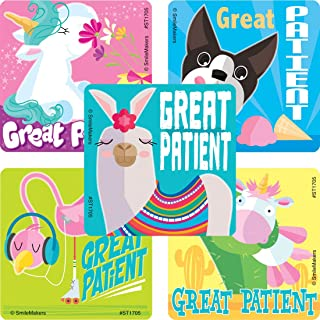 SmileMakers Cute Great Patient Stickers - Prizes 100 per Pack