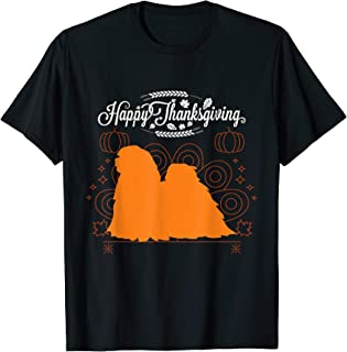 Happy Thanksgiving Lhasa Apso Dog Lover T-Shirt