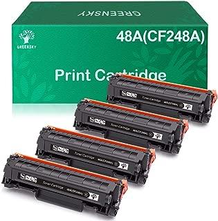 GREENSKY Compatible Toner Cartridge Replacement for HP 48A CF248A for HP Laserjet Pro M15w M15a M16a M16w MFP M29w MFP M29a MFP M28w MFP M28a Printer (Black, 4-Pack)