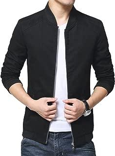 Mens Autumn Casual Bomber Jacket Coat Cotton Outerwear