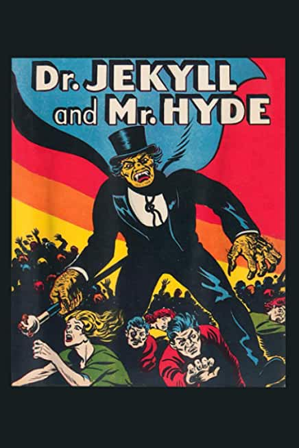 Dr Jekyll Mr Hyde Retro Halloween Monster: Notebook Planner - 6x9 inch Daily Planner Journal, To Do List Notebook, Daily Organizer, 114 Pages
