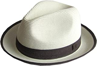 Mens Summer Crushable & Packable Straw Fedora Hat