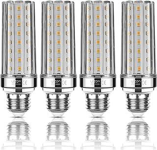 Yiizon Bombillas LED de maíz E27 20W equivalentes a bombillas incandescentes de 150 W 3000 K blanco cálido 2000LM bombillas de tornillo E27 Edison, bombillas LED de candelabro no regulable 4 Paquete