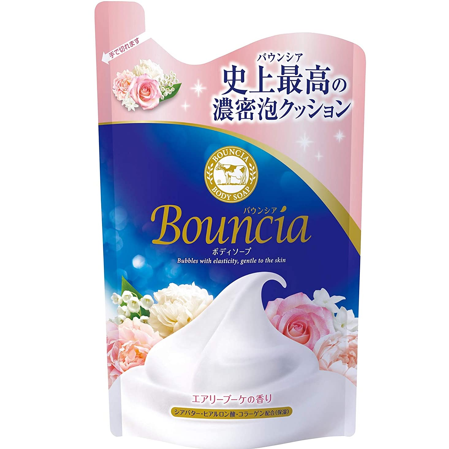 露出度の高い研究所恵みバウンシア ボディソープ エアリーブーケの香り 詰替 400mL
