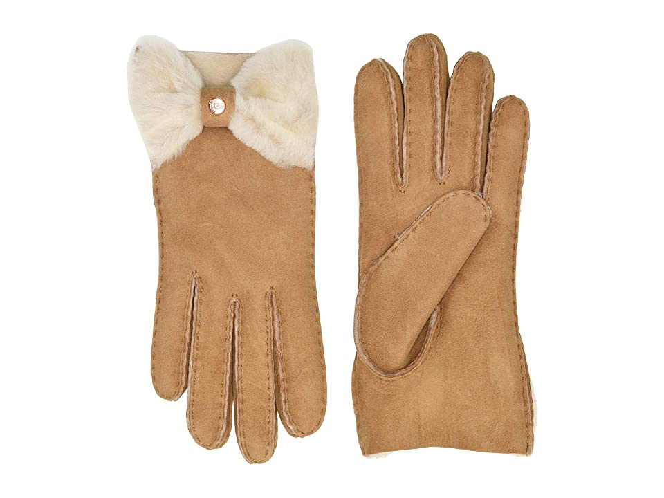 Vintage Style Gloves- Long, Wrist, Evening, Day, Leather, Lace UGG Bow Shorty Water Resistant Sheepskin Gloves Chestnut Extreme Cold Weather Gloves $154.95 AT vintagedancer.com