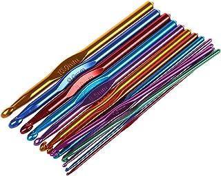 TOOGOO(R) 14 Tailles Multicolore aluminium Crochet Aiguilles Crochets Ensemble 2mm-10mm
