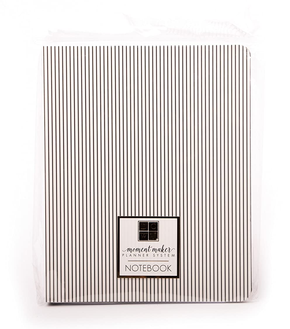 American Crafts SY-002-00055 Pinstripes Chipboard Designer Notebook Die Cuts with A View Planners lh60828111156950