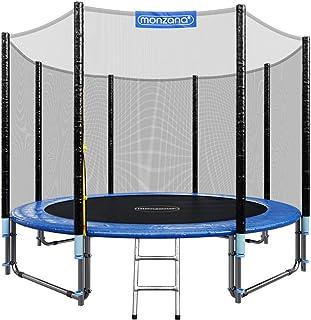 Monzana Trampolín de 305 cm cama elástica negro y azul con