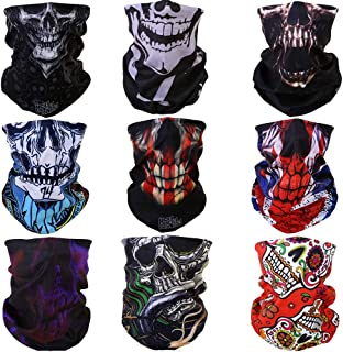 Yerwal Windproof Seamless Skull Face Mask Bandana for Riding Cycling Motorcycle Multifunctional Headwear