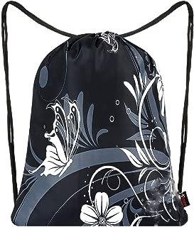 Drawstring Bag Backpack Sackpack Gym sack Sport Beach Daypack For Men & Women