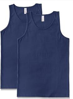 7b2ef5cb74c873 JD Apparel Men s Premium Basic Solid Tank Top Jersey Casual Shirts 2XL Navy  ...