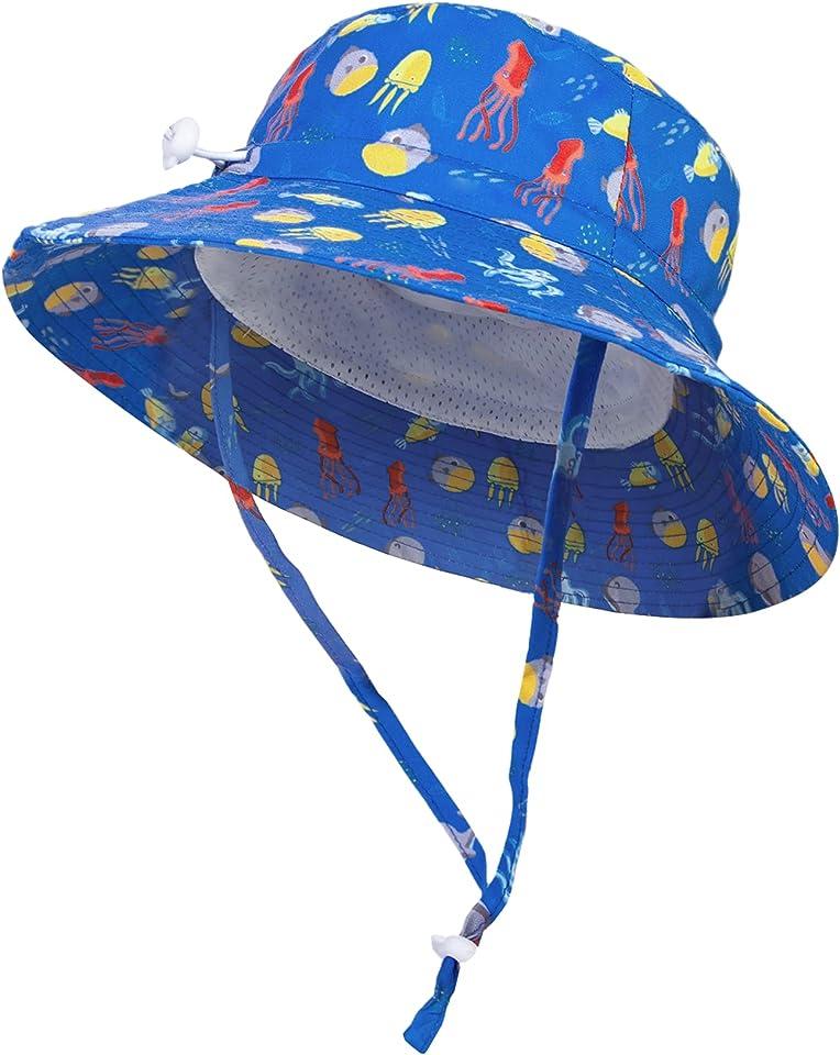 Sonnenhut Baby UV Schutz UPF 50+ Strandhut Kinder Baby Unisex Sommer Outdoor Essentials Einstellbare Größe