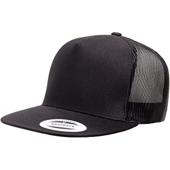 Adult Unisex Flexfit Classic 5 Panel Trucker Baseball Cap Hat with Mesh Side