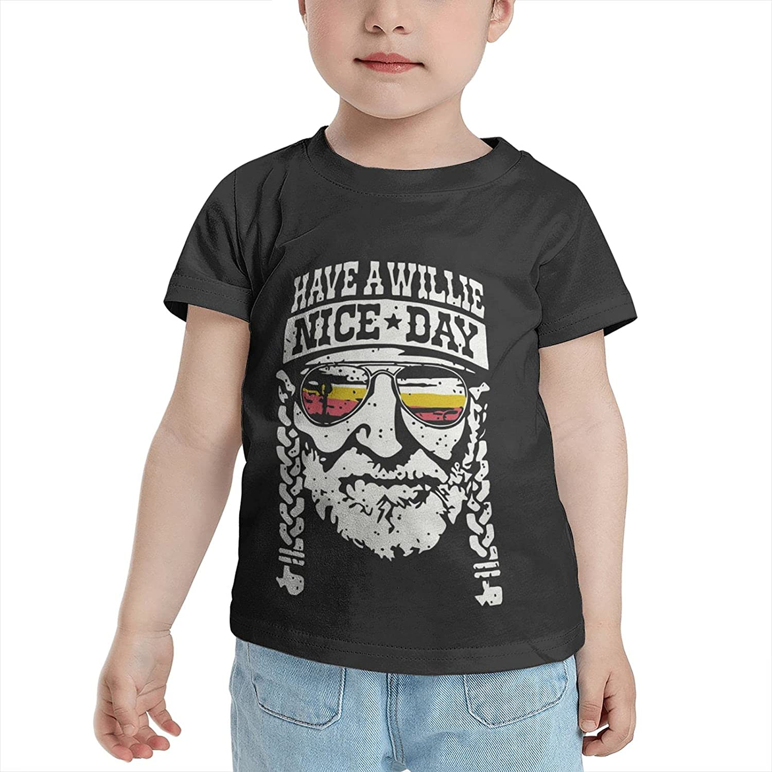 Have A Willie Nice Day Child T Shirt 2-6 Year Old Funny Kids Tees Shirt Short Sleeved Top for Boys Girl