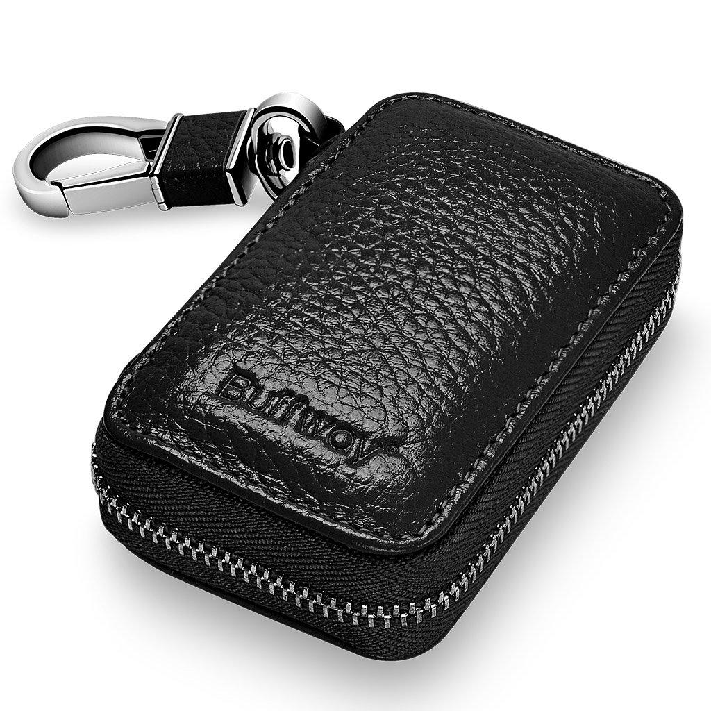 Buffway Genuine Leather Keychain Keyring