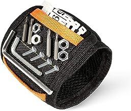 Senders - Pulsera magnética con 15 potentes imanes y cinta de velcro ajustable para sujetar herramientas, tornillos, taladros, clavos, el mejor regalo para hombres