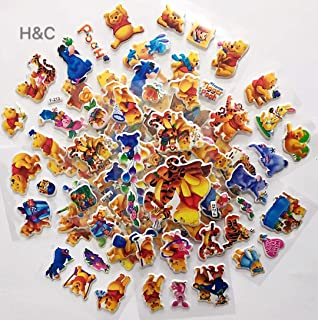 H&C Replacement for 3D Coloful Winnie The Pooh Stickers 8 Sheets per Pack
