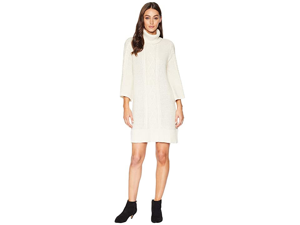 CHAPS 3/4 Sleeve Sweater Dress (Heritage Cream) Women