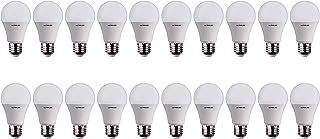 ULTRALED Juego de 20 bombillas LED gota A60, casquillo E27, luz natural 4000 K