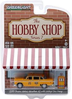 Greenlight 97070-E The Hobby Shop Series 7-1978 Checker Motors Marathon A11 Taxi with Vintage Gas Pump 1:64 Scale