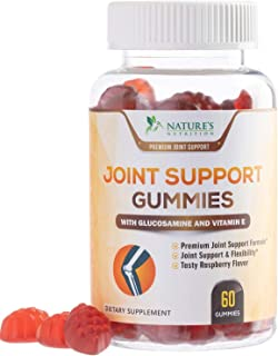 Joint Support Gummies Extra Strength Glucosamine & Vitamin E - Natural Joint & Flexibility Support - Cartilage & Immune Health Support Supplement for Men and Women - 60 Gummies