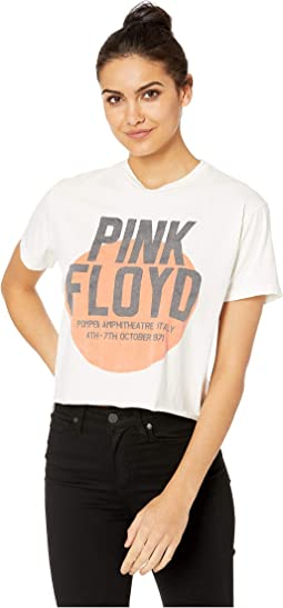 Black Label Vintage Pink Floyd Slightly Oversized Cropped Tee