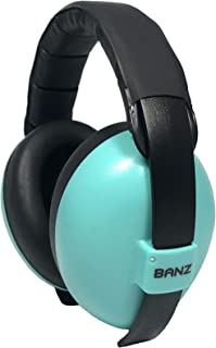 Baby Banz Earmuffs and Infant Hearing Protection and Sunglasses Combo 0-2 Years, Aqua Blue