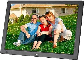 إطار صورة رقمية، 17 بوصة HD 1440X900 LED عرض صور إلكترونية مع مستشعر حركة MP3 / MP4 تدعم ساعة الفيديو الموسيقية التقويم، ه...