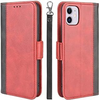 iPhone 11 ケース 手帳型 アイフォン11カバー 財布型 サイドマグネット式 ストラップホール Qi充電対応 横置き機能 カード収納 高級PUレザー XJUN アイホン11に対応 ワインレッド-4d29