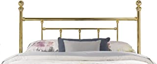 Hillsdale Furniture Hillsdale Chelsea, Bed Frame Not Included King Headboard, Classic Brass