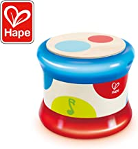 Hape Baby Drum | Colorful Rolling Drum Musical Instrument Toy for Toddlers, Rhythm & Sound Learning, Battery Powered