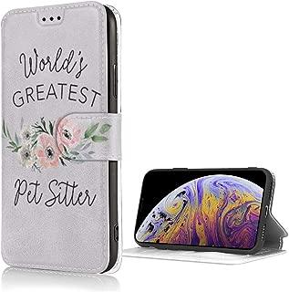 World's Greatest Pet Sitter世界最大のペットシッター For iPhone 7/8ケース手帳型レザーカードスロット 手帳- 花柄レトロ 可愛い 人気女性携帯カバー 耐衝撃 収納力抜群 横置きスタンド 高級PUレザーケース ケース手帳 財布型 手帳型 As Shown One Size