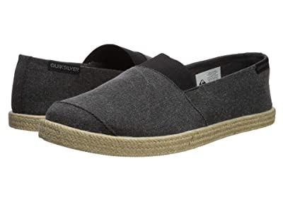Quiksilver Espadrilled (Solid Black) Men