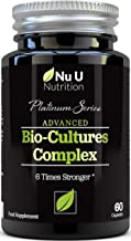 Bio-Cultures 5 Active Strains 60 Billion CFU Source Powder | 6 Times Stronger - 6 Billion Live CFUs | Multi Strain with Lactobacillus Acidophilus & Bifidobacterium for Adults | 60 Vegetarian Capsules