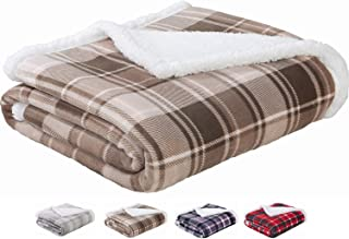 cac61681d2 Sedona House Sherpa Flannel Throw Blanket