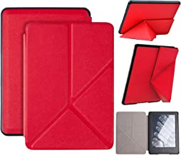 Origami Case for All-New Kindle Paperwhite (10th Generation-2018 Only - Will Not fit Prior Generation Kindle Devices), Standing Smart Cover with Auto Sleep/Wake (red)