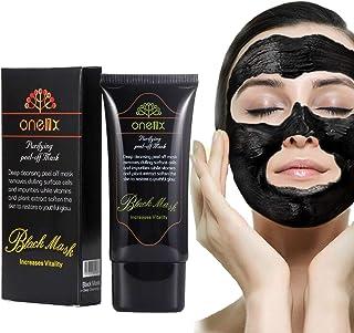 DISAAR Blackhead Activated Natural Charcoal Cleansing Mask, Wash-Off Nursing Face Masks Deep Cleansing Peel-off Mask,Black Mud Face Mask 50ml