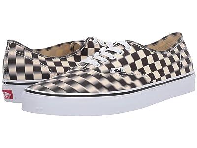 Vans Authentictm ((Blur Check) Black/Classic White) Skate Shoes
