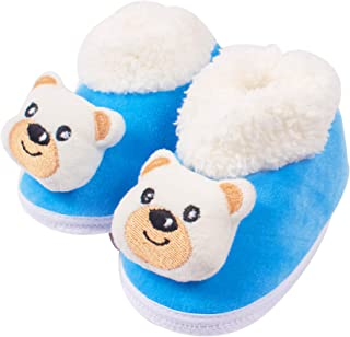 Ole Baby Ice Age Solid Soft Furry Organic Ole Toons Booties 3-12 Months