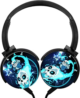 Headphone Under-Tale Sans Lightweight Headset Wired Headphones with Mic Over Ear Fashion Women's Stereo Headsets for Offic... photo