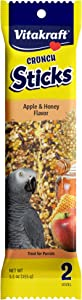 Vitakraft Parrot Treat Sticks - Apple And Honey - 5.5Oz