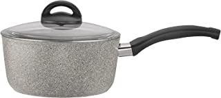 Ballarini 75001-649 Parma Forged Aluminum Nonstick Saucepan with Lid, 2.8-quart, Granite