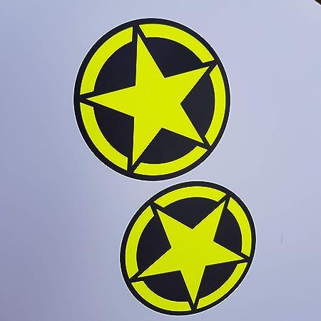 Folien Zentrum Army Stern Neon Gelb Shocker Hand Auto Aufkleber Jdm Tuning Autoaufkleber Oem Dub Decal Stickerbomb Bombing Fun Roller Scooter Motorrad 38 Auto