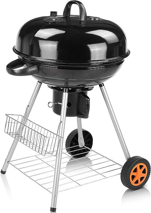 Barbecue a carbonella, kettle barbecue, 58 x 58 x 98 cm B08X9X39T6