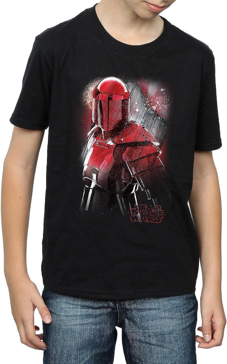 STAR WARS Boys The Last Jedi Praetorian Guard Brushed T-Shirt 7-8 Years Black