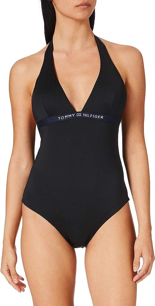 Tommy hilfiger one-piece halter costume da bagno intero per donna poliestere riciclato (85%) elastan (15%) UW0UW02711B