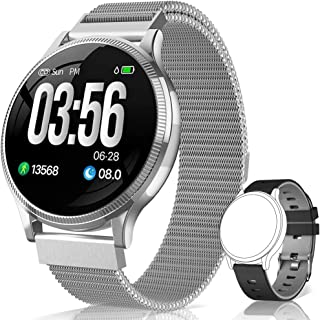 comprar comparacion BANLVS Reloj Inteligente, Smartwatch IP67 1.22 Pulgadas Pulsómetro, Monitor de Sueño, Presión Arterial,Pulsera Actividad I...