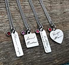 signature necklace of a loved one's handwriting