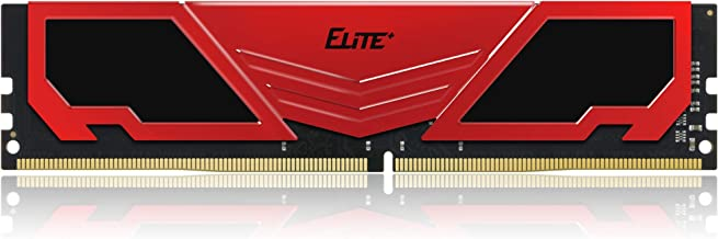 TEAMGROUP Elite Plus DDR4 16GB Kit (2x8GB) 2400MHz PC4-19200 CL16 Unbuffered Non-ECC 1.2V U-DIMM 288 Pin PC Computer Desktop Memory Module Ram Upgrade - Red & Black - TPRD416G2400HC16DC01